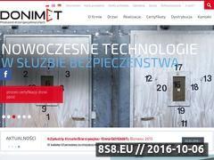 Miniaturka domeny www.donimet.com.pl