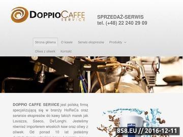 Zrzut strony DOPPIO CAFFE SERVICE - dzierżawa ekspresów do kawy