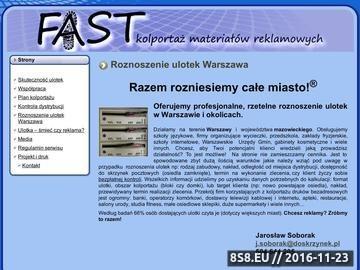 Zrzut strony Roznoszenie ulotek Warszawa