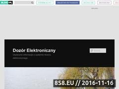 Miniaturka dozor-elektroniczny.blog.pl (Informacje o systemie dozoru elektronicznego)