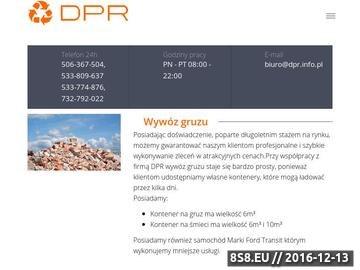 Zrzut strony Kontenery na gruz - DPR