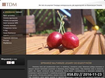 Zrzut strony TDM Tarasy Drewniane- deska tarasowa sprzedaż i montaż