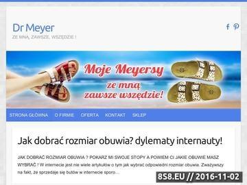 Zrzut strony Producent profilaktycznego obuwia typu Birkenstock