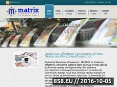 Miniaturka domeny drukarnia-matrix.pl