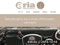 Miniaturka domeny www.drukarniaaria.pl
