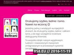 Miniaturka domeny www.drukarniabeltrani.pl