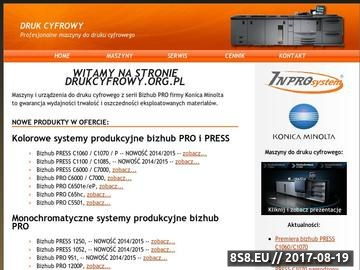 Zrzut strony Bizhub Pro 920 1050 c500 c5500 c6500