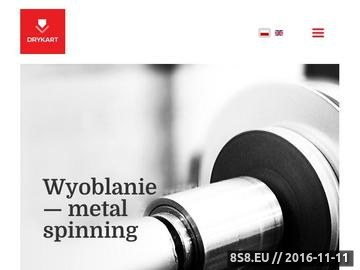 Zrzut strony Obróbka - metal, kształtowanie blachy i wyoblanie