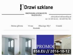 Miniaturka domeny www.drzwiszklanesklep.pl