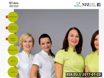 Zrzut strony Duodental: dentysta Radwanice