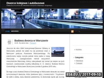 Zrzut strony Dworce i stacje kolejowe
