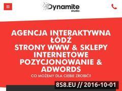 Miniaturka domeny www.dynamite-studio.pl