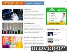 Miniaturka dysocjacja.pl (Dysocjacja - serwis chemiczny)