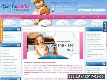 Zrzut strony Odzież dziecięca sklep internetowy