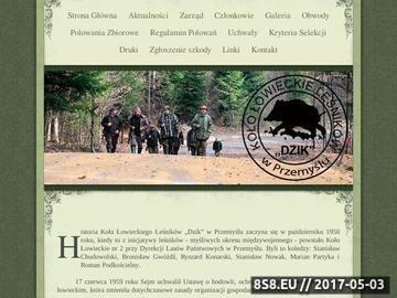 """Zrzut strony Koło Łowieckie Leśników """"DZIK"""" w Przemyślu"""