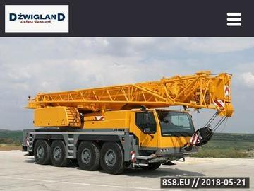 Zrzut strony Usługi dźwigowe Gdańsk