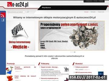 Zrzut strony Internetowy sklep motoryzacyjny E-autoczęści24.pl