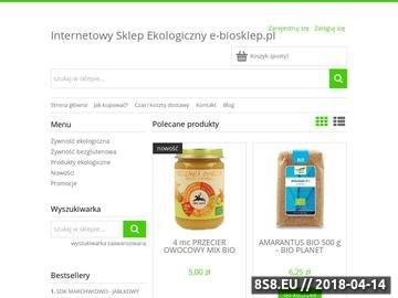 Zrzut strony Produkty ekologiczne