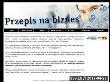 Zrzut strony E-biznes - Gotowy portal kredytowo - ubezpieczeniowy