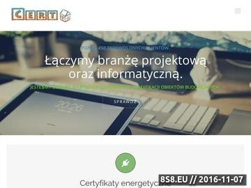 Zrzut strony Świadectwa Charakterystyki Energetycznej Poznań - Gniezno (Wielkopolska)