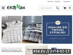Miniaturka e-ekomax.pl (Tania pościel z bawełny satynowej - sklep EKOMAX)