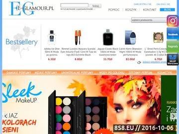 Zrzut strony Najlepsze markowe kosmetyki i perfumy E-Glamour.pl