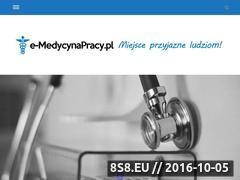 Miniaturka domeny www.e-medycynapracy.pl