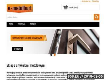 Zrzut strony E-metalhurt sklep z narzędziami