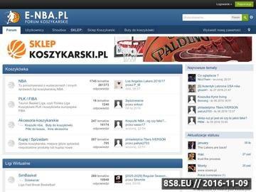 Zrzut strony NBA