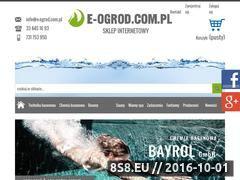 Miniaturka domeny www.e-ogrod.com.pl