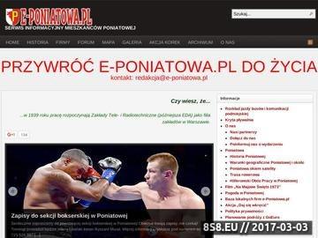 Zrzut strony PONIATOWA - Serwis Informacyjny Poniatowej - e-Poniatowa.pl