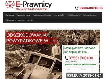 Zrzut strony Oodszkodowanie w UK - E-Prawnicy