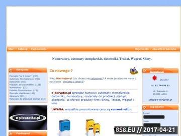 Zrzut strony Pieczątki, Stemple, Datownik, Numeratory - e-skryptor.pl - sprzedaż hurtowa