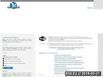 Zrzut strony EasySpot.pl - Uruchom własnego hotspota w 5 minut i zacznij zarabiać!