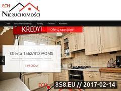 Miniaturka domeny www.ech-nieruchomosci.pl