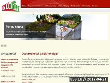 Zrzut strony Przydomowe oczyszczanie ścieków - montaż oraz sprzedaż - Ecodom