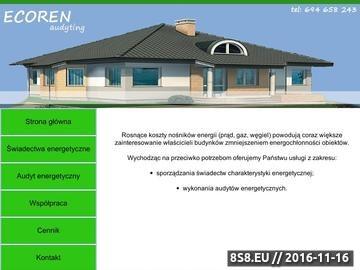 Zrzut strony ŚWIADECTWA ENERGETYCZNE - ECOREN Audyting