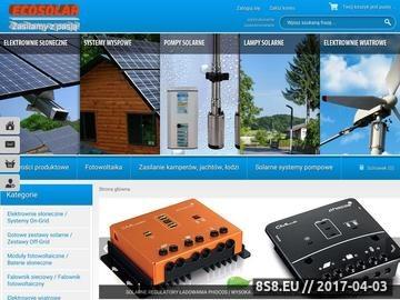 Zrzut strony Baterie słoneczne kolektory słoneczne przetwornice elektrownie wiatrowe