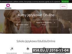 Miniaturka edueduonline.pl (Szkoła językowa online)