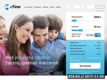 Zrzut strony Efino - pożyczki