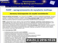 Miniaturka Program do obsługi list mailngowych - Autoresponder FUMP (efump.eu)