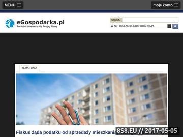 Zrzut strony Egospodarka.pl - aktualne źródło informacji o gospodarce