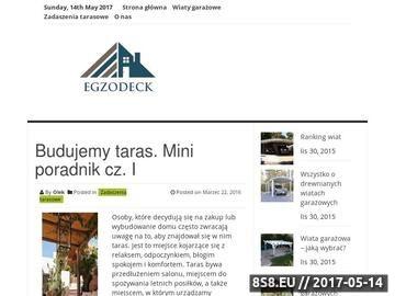 Zrzut strony Tarasy i podłogi drewniane - Egzodeck