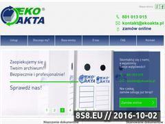 Miniaturka domeny www.ekoakta.pl