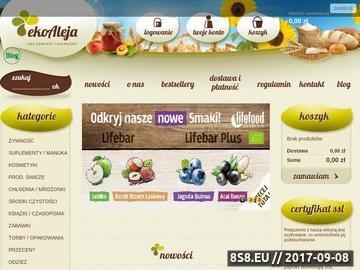 Zrzut strony Zdrowa żywność, eko kosmetyki oraz żywność ekologiczna