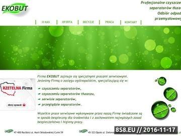 Zrzut strony EKOBUT Opole. Profesionalne czyszczenie separatorów i osadników