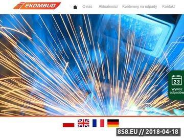 Zrzut strony Ekombud - kontenery stalowe