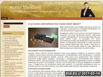 Zrzut strony Elektroniczne konto bankowe