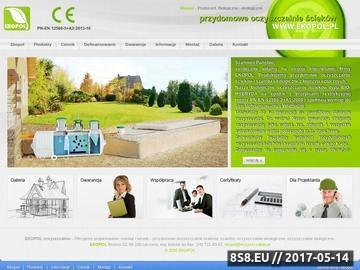 Zrzut strony Ekopol - oczyszczalnie przydomowe Łódź