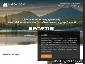Zrzut strony Eksportowy - sklep sportowy, sprzęt sportowy, kamizelki ratunkowe